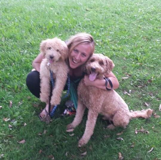 julie with dogs